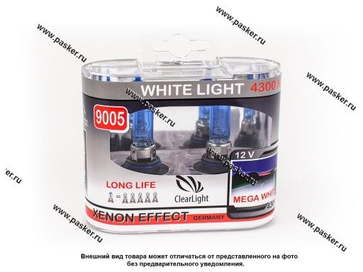 Лампа галоген 12V HB3 55/60W P20d ClearLight WhiteLight ML9005WL 4300К
