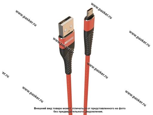 Кабель универсальный Micro-USB 1м WIIIX CB720-UMU-2A-10R красный