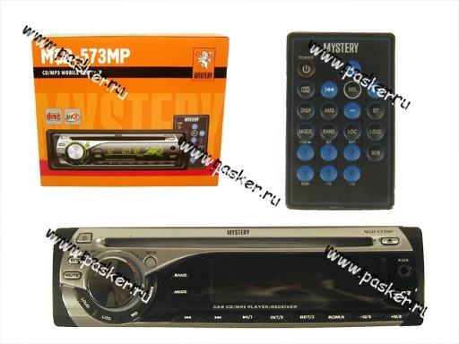 Автомагнитола MYSTERY CD/MP3 4х50Вт MCD-573MP пульт зеленая подсветка