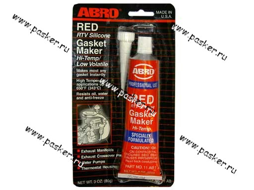 Герметик ABRO 85гр силиконовый красный