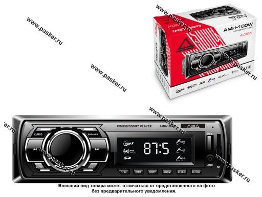 Автомагнитола AURA USB-ресивер 4х36W USB/SD/FM/AUX/1RCA белая подсветка AMH-100W