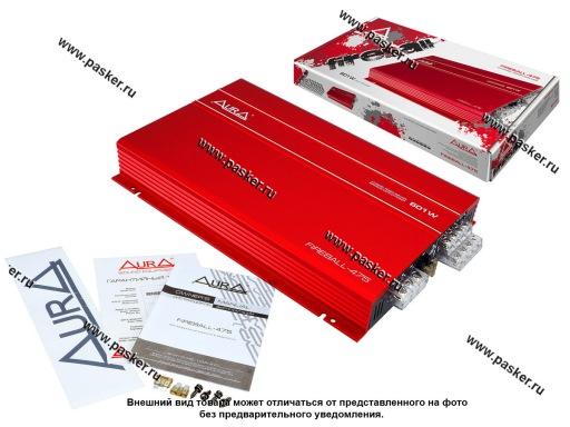 Усилитель AURA FIREBALL-475 4-канальный 4x76W 4/4x96W 2RMS 330x218x47мм