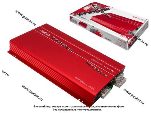 Усилитель AURA FIREBALL-495 4-канальный 4x75W 4/4x96W 2RMS 355x218x47мм