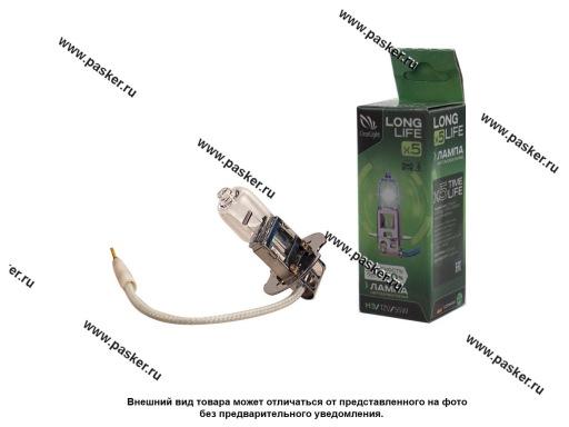 Лампа галоген 12V H3 55W Pk22s ClearLight LongLife +50%