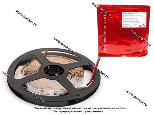 Лента светодиодная 12В 3528 300SMD IP22/LS603 не герметичная красный 4,8Вт/м 1метр