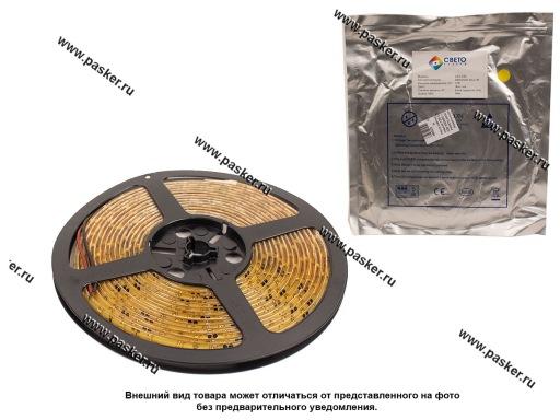 Лента светодиодная 12В 3528 300SMD IP65/67/LS604 герметичная желтый 4,8Вт/м 1метр