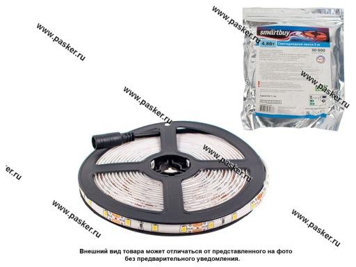 Лента светодиодная 12В 3528 300SMD IP65/67/LS604 герметичная тепл белый 4,8Вт/м 1метр