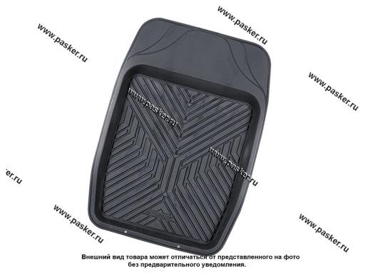Коврик универсальный AUTOPROFI ванночка для переднего ряда 69х48см ПВХ черный MAT-150f BK