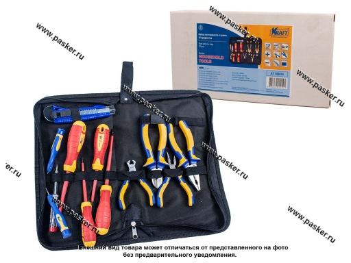 Инструмент KRAFT  12 предметов для электрика сумка