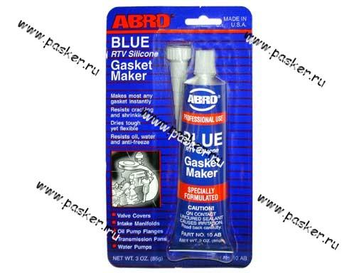 Герметик ABRO 85гр силиконовый синий