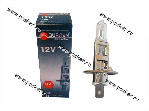 Лампа галоген 12V H1 100W P14.5s ДиаЛуч