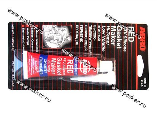 Герметик ABRO 42,5гр силиконовый красный 11