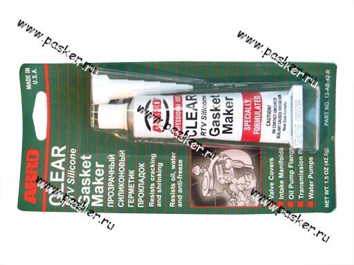 Герметик ABRO 42,5гр силиконовый прозрачный 13