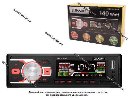 Автомагнитола SWAT SD/MP3/USB 4х35Вт MEX-1025UBA красн кнопки