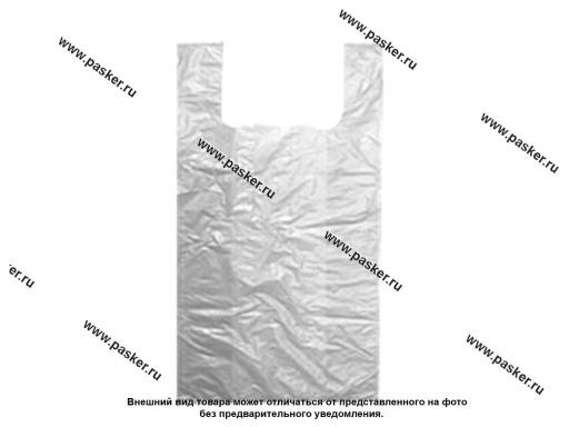 Пакет майка ПНД 28+14х50 см 13мкм белые 100шт