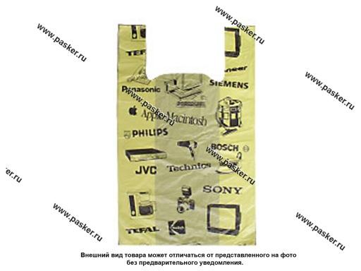 Пакет майка ПНД 43+18х64 см 22мкм Электрон 50шт