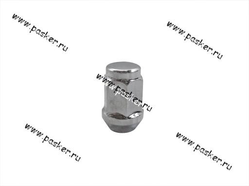 Гайка колесного болта М12х1,5х34 кл19 закрытая с буртиком конус хром л/д