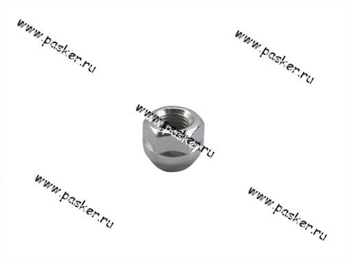 Гайка колесного болта М12х1,5 кл19 открытая с буртиком, конус хром л/д