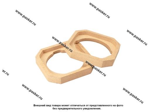 Кольца проставочные 10 см под Рупор квадрат МДФ 16мм AURA