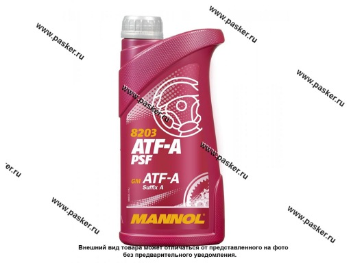 Жидкость ГУР Mannol ATF-A PSF 1л MN8203-1