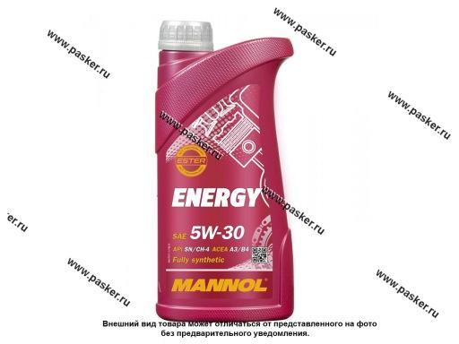 Масло Mannol  5W30 Energy API SN/CH-4 ACEA A3/B4 1л син MN7511-1