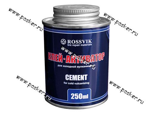 Клей шиномонтажный цемент активаторный Rossvik 340гр/250мл с кистью