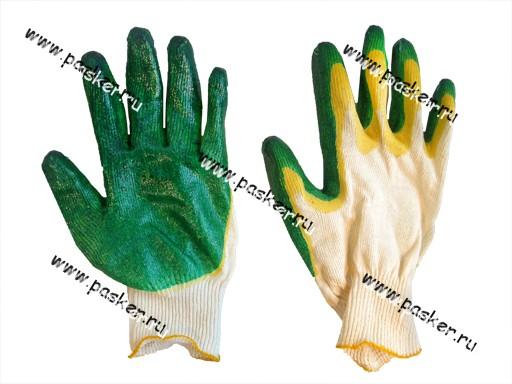 Перчатки х/б Garde двойной облив латекс 13 класс