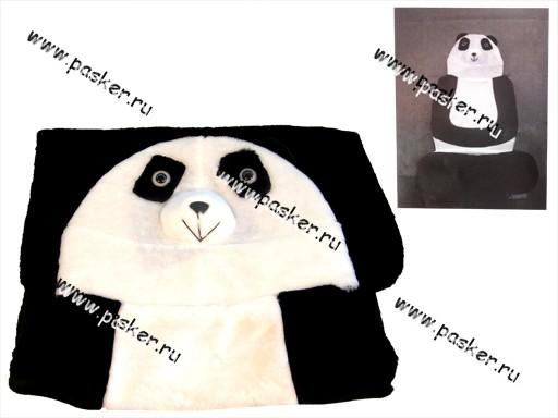 Накидка на сиденье меховая Панда искусственная шерсть