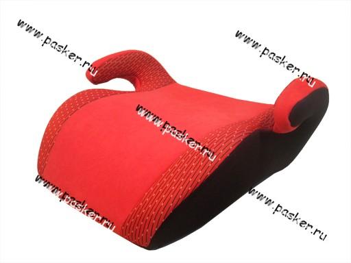 Кресло детское SIGER Бустер Мякиш Плюс красное от 22-36кг