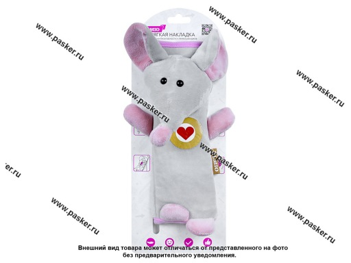 Накладка ремня безопасности и лямки рюкзаков мягкая Мышка OLMIO 039124