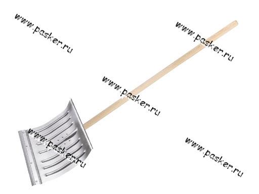 Лопата для снега СИБРТЕХ с планкой 430х370 61596 металл