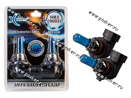 Лампа галоген 12V HB3 55W P20d Xenite Super White +30% яркости 9005