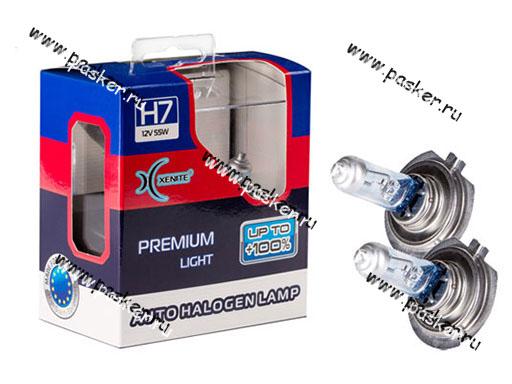 Лампа галоген 12V H7 55W PX26d Xenite Premium +100% яркости