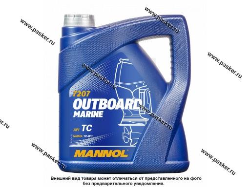 Масло Mannol 2-х тактное Outboard Marine 4л п/с