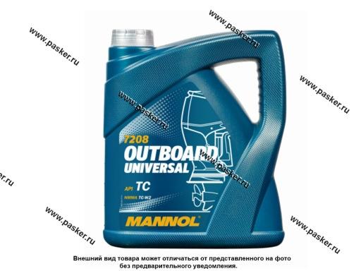 Масло Mannol  2-х тактное Outboard Universal API TC 4л мин MN7208-4