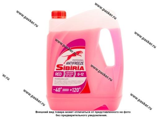 Антифриз SIBIRIA-40 G12 5кг красный