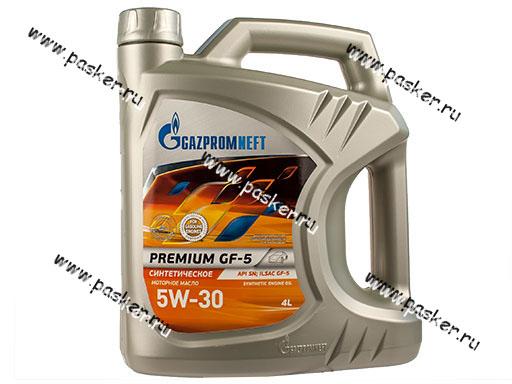 Масло Gazpromneft  5W30 Premium JK API SN ILSAC GF-5 4л син
