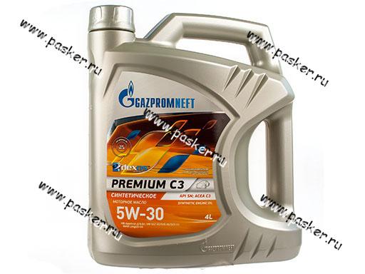 Масло Gazpromneft  5W30 Premium С3 API SN ACEA C3 4л син