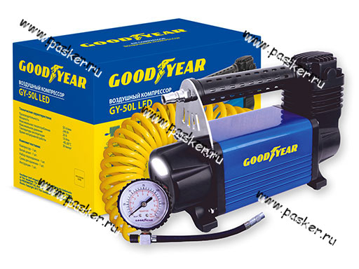 Компрессор GOODYEAR GY-50L LED 50л/мин
