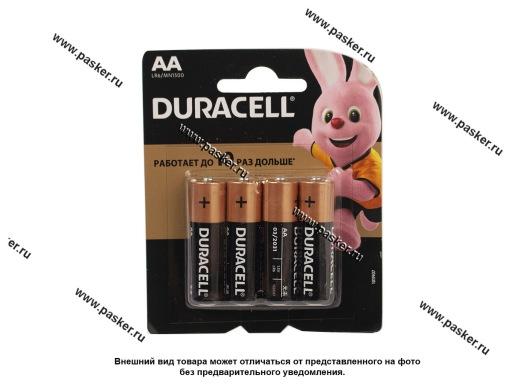 Батарейка DURACELL LR6 АА BL-4 BASIC