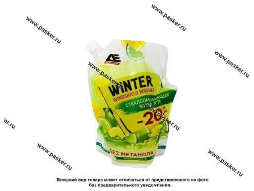 Жидкость незамерзающая AUTOEXPRESS 3л до -20 упаковка дойпак с запахом ЛИМОН