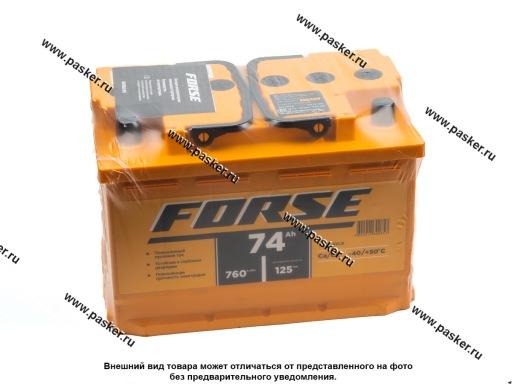 Аккумулятор FORSE 74Ач EN760/720 276х175х190 обр/п