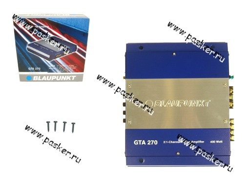 Усилитель BLAUPUNKT GTA-270 2х70Вт/1х200ВтRMS 4 Ом, 2х100ВтRMS 2 Ом