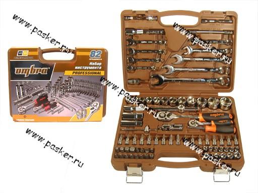 Инструмент OMBRA  82 предмета 1/2-1/4 кейс пластик OMT82S