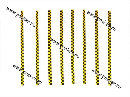 Наклейка - молдинг Такси №2 4х100см 8 полосок желтая
