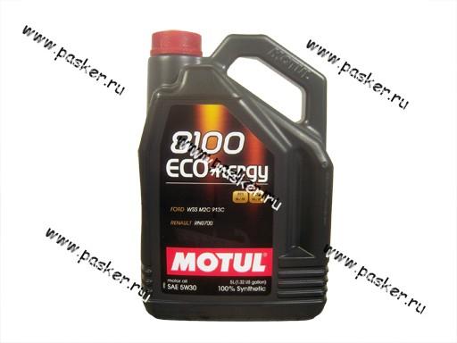Масло Motul  5W30 8100 Eco-nergy API SL/CF 5л син
