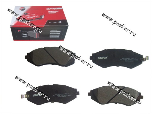 Колодки тормозные Chevrolet Lacetti Tacuma 1.4-2.0 передние FENOX BP43003O7