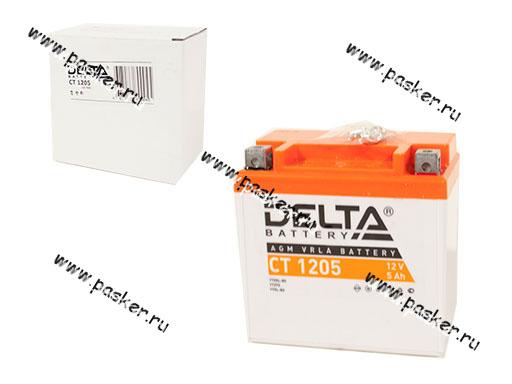 Аккумулятор DELTA MOTO CT 1205 114х69х109 обр/п с/эл YTX5L-BS