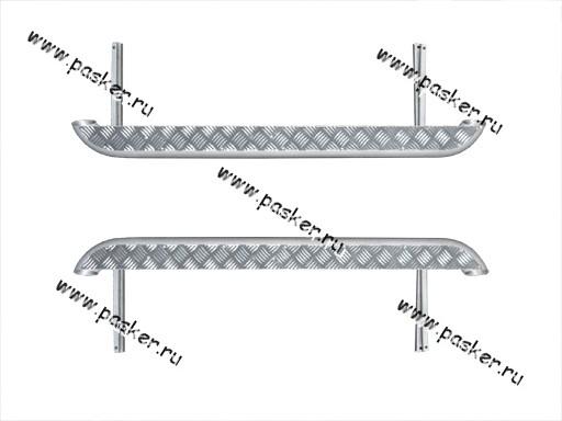 Порог-подножка дополнительный 2121-213, 21214 с алюминиевым листом