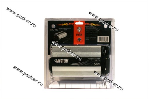 Преобразователь напряжения 12В/220В  150Вт Mystery с USB  в прикуриватель